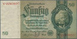 Deutschland - Deutsches Reich Bis 1945: 50 Reichsmark 1933 Ro 175a, Seltene Variante Mit Unterdruckb - [ 4] 1933-1945 : Terzo  Reich