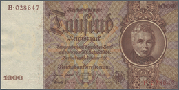 """Deutschland - Deutsches Reich Bis 1945: 1000 Reichsmark 1936 """"Schinkel"""" Mit Brauner Statt Roter KN, - [ 4] 1933-1945 : Terzo  Reich"""
