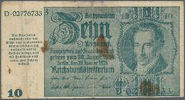 """Deutschland - Deutsches Reich Bis 1945: 10 Mark Notausgabe 1945 """"Schörner-Schein"""", Ro.180, Stark Geb - [ 4] 1933-1945 : Terzo  Reich"""
