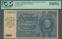 """Deutschland - Deutsches Reich Bis 1945: 100 Reichsmark """"Schörner"""" 1945, Ro.182, Senkrechter Mittelkn - [ 4] 1933-1945 : Terzo  Reich"""