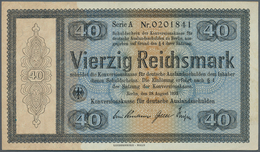 Deutschland - Deutsches Reich Bis 1945: Reichskonversionskasse: 40 Reichsmark 1933 Mit Heftlöchern, - [ 4] 1933-1945 : Terzo  Reich