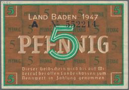 Deutschland - Alliierte Miltärbehörde + Ausgaben 1945-1948: Baden, Staatsschuldenverwaltung, Set Mit - [ 5] 1945-1949 : Occupazione Degli Alleati