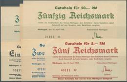 Deutschland - Alliierte Miltärbehörde + Ausgaben 1945-1948: Nürtingen, Kreisverband, 1, 2, 5, 10, 20 - [ 5] 1945-1949 : Occupazione Degli Alleati