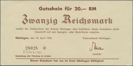 Deutschland - Alliierte Miltärbehörde + Ausgaben 1945-1948: Nürtingen, Kreis, 1, 2, 5, 10, 20, 50 RM - [ 5] 1945-1949 : Occupazione Degli Alleati