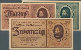 Deutschland - Alliierte Miltärbehörde + Ausgaben 1945-1948: Aalen, Landkreis, 5, 10, 20 Reichsmark, - [ 5] 1945-1949 : Occupazione Degli Alleati