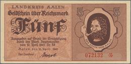 Deutschland - Alliierte Miltärbehörde + Ausgaben 1945-1948: Aalen, Landkreis, 5, 2 X 10, 2 X 20 RM, - [ 5] 1945-1949 : Occupazione Degli Alleati