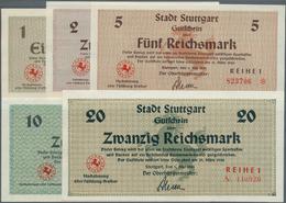 Deutschland - Alliierte Miltärbehörde + Ausgaben 1945-1948: Stuttgart, Stadt, 1, 2, 5, 10, 20 Reichs - [ 5] 1945-1949 : Occupazione Degli Alleati