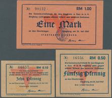 Deutschland - Alliierte Miltärbehörde + Ausgaben 1945-1948: Siegburg, Stadt, 10, 50 Pf., 1 Mark, 25. - [ 5] 1945-1949 : Occupazione Degli Alleati