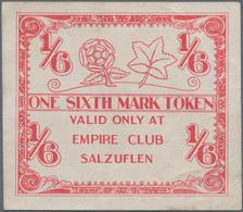 Deutschland - Alliierte Miltärbehörde + Ausgaben 1945-1948: Bad Salzuflen, Empire Club, 1/6 Mark, Vo - [ 5] 1945-1949 : Occupazione Degli Alleati