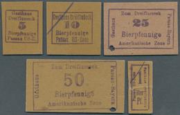 Deutschland - Alliierte Miltärbehörde + Ausgaben 1945-1948: Passau, Gasthaus Dreiflusseck, 1, 5, 10, - [ 5] 1945-1949 : Occupazione Degli Alleati