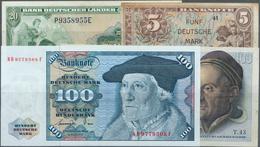 Deutschland - Bank Deutscher Länder + Bundesrepublik Deutschland: Kleines Los Bundesrepublik Mit 4 B - [ 7] 1949-… : RFA - Rep. Fed. Tedesca