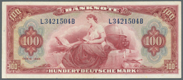 """Deutschland - Bank Deutscher Länder + Bundesrepublik Deutschland: 100 Mark 1948 """"Roter Hunderter"""" Ro - [ 7] 1949-… : RFA - Rep. Fed. Tedesca"""