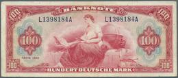 Deutschland - Bank Deutscher Länder + Bundesrepublik Deutschland: 100 DM 1948, Roter Hunderter, Ro.2 - [ 7] 1949-… : RFA - Rep. Fed. Tedesca