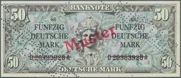 Deutschland - Bank Deutscher Länder + Bundesrepublik Deutschland: 50 DM 1948, Liberty, Mit Perforati - [ 7] 1949-… : RFA - Rep. Fed. Tedesca
