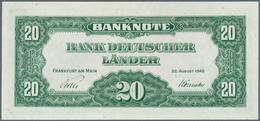 Deutschland - Bank Deutscher Länder + Bundesrepublik Deutschland: 20 DM 1949, Ro.260, Leichter Mitte - [ 7] 1949-… : RFA - Rep. Fed. Tedesca
