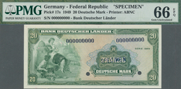 Deutschland - Bank Deutscher Länder + Bundesrepublik Deutschland: Bank Deutscher Länder 20 Mark 1949 - [ 7] 1949-… : RFA - Rep. Fed. Tedesca