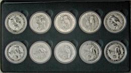 "Australien: Australian Themes/Landmarks Privy Mark Collection: 10 X 1 OZ Kookaburra Mit Privy Mark "" - Australien"