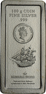 Cook Inseln: Elizabeth II 1953-,: 5 Dollars 2009 Bounty, 100 Gramm Münzbarren, 3 Stück. - Islas Cook