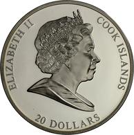 Cook Inseln: MASTERPIECES OF ART: Blaues Pferd I. Von Franz Marc, 20 Dollars 2011, 3 OZ (93,3 G), 99 - Islas Cook