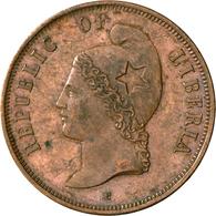 Liberia: Probe 2 Cents 1890, K.M. Pn 54, Kl. Kratzer, Sehr Schön-vorzüglich/vorzüglich. - Liberia