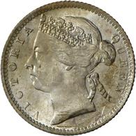 Straits Settlements: Victoria 1837-1901: 10 Cents 1899, KM# 11, Winz. Kratzer, Feine Patina, Vorzügl - Singapur