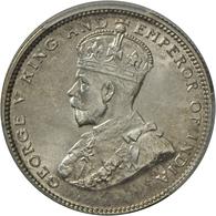 Straits Settlements: George V. 1910-1936: 20 Cents 1926, KM# 30b. Im PCGS Holder MS 65, Vorzüglich. - Singapur