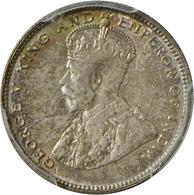 Straits Settlements: George V. 1910-1936: 20 Cents 1927, KM# 30b. Im PCGS Holder MS 63, Vorzüglich. - Singapur