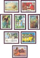 Polynesie: Yvert N° A 178/181** Et  223/226**; MNH; Tableaux - Nuovi