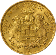 Hamburg: Freie Und Hansestadt: 10 Mark 1903 J, Jaeger 211, 3,98 G 900/1000 Gold, Vorzüglich - Stempe - Goldmünzen