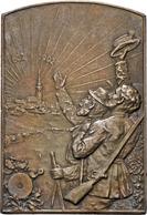 Medaillen Deutschland: Stockerau: Franz Joseph I. 1848-1916: Ag Plakette 1902 Auf Das X. Niederöster - Germany