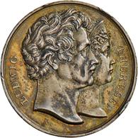 Medaillen Deutschland - Personen: Bayern, Ludwig I. 1825-1848: Silbermedaille O.J. Von Neuss, Schulp - Germany