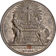 Medaillen Deutschland - Geographisch: Augsburg, Stadt: Zinnmedaille 1774 Von Bückle. Auf Die Wahl De - Germany