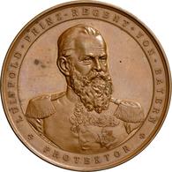 Medaillen Deutschland - Geographisch: Augsburg: Bronzemedaille 1886 Von A. Börsch, Auf Die Schwäbisc - Germany