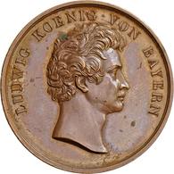 Medaillen Deutschland - Geographisch: Bayern, Ludwig I. 1825-1848: Bronzemedaille O.J., Unsigniert ( - Germany