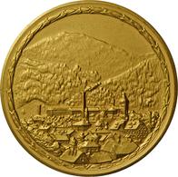 Medaillen Deutschland - Geographisch: Immenstadt: Vergoldete Bronzemedaille O.J., Für 50 Jährige Tre - Germany