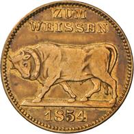 Medaillen Deutschland - Geographisch: Isny: Biermarke 1854. Umschrift: Vs: GUT FÜR EINEN SCHOPPEN BI - Germany