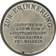 Medaillen Deutschland - Geographisch: Stuttgart: Zinnmedaille 1926, Auf Das 25-jährige Jubiläum Des - Germany