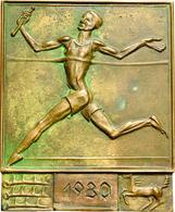 Medaillen Deutschland - Geographisch: Stuttgart: Bronzeplakette 1930, Preismedaille Des Stadtverband - Germany
