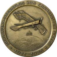 Medaillen Deutschland - Geographisch: Stuttgart: Bronzemedaille 1936, Sternflug Zum Cannstatter Wase - Germany