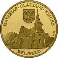 Medaillen Deutschland - Personen: Goldmedaille Auf Den 200. Todestag Und 275. Geburtstag Des Dichter - Germany