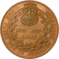 Medaillen Deutschland - Geographisch: Frankfurt, Stadt: Bronzemedaille 1895, Von Lauer. Auf Das 50jä - Germany