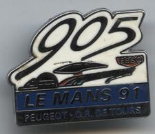 Pin's Voiture Automobile Peugeot 905 DR Tours Le Mans 1991 ESSO - Peugeot