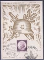 Carte Federale Journee Du Timbre 1942 Strasbourg Tag Der Briefmarke - France