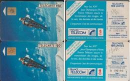 F174A TELECARTES PAIRE N° A 195190 SOIT A POINTU Et 1 SANS BARRE PUCE SO3 - Phonecards