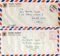 33776 Taiwan Taipei  2  Red Meter/freistempel/ema/  1973-1974 Taipei Hilton - 1945-... Republic Of China