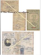 BOUAN - ORUS JEAN - ARIEGE - CARTE IDENTITE ZONE RESERVEE PYRENEENNE CERTIFICAT TRAVAIL CARTE DELEGUE LOT DE 4 DOCUMENTS - Documents Historiques