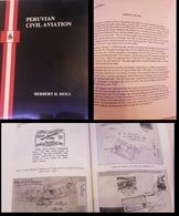 L) 2000 PERU, BOOK, PERUVIAN CIVIL AVIATION, ENGLISH VERSION BLACK AND WHITE, 86 PAGES, HERBERT H. MOLL, XF - Peru