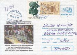 71286- MINE RAILWAYS, WAGON, MINERALS, REGISTERED COVER STATIONERY, 1997, ROMANIA - Minerales