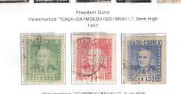 Brasile PO 1947 Pres.Dutra     Scott.674/676 See Scan On Scott.Page - Usati