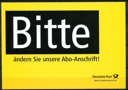 """Germany 2001 Ganzsache/Pluskarte Deutsche Post AG Mi.PEK 10""""Postfach-Mitteilungskarte,Presse """"1 GS Blanko - Post"""
